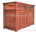 药房老榆木原木色展示柜