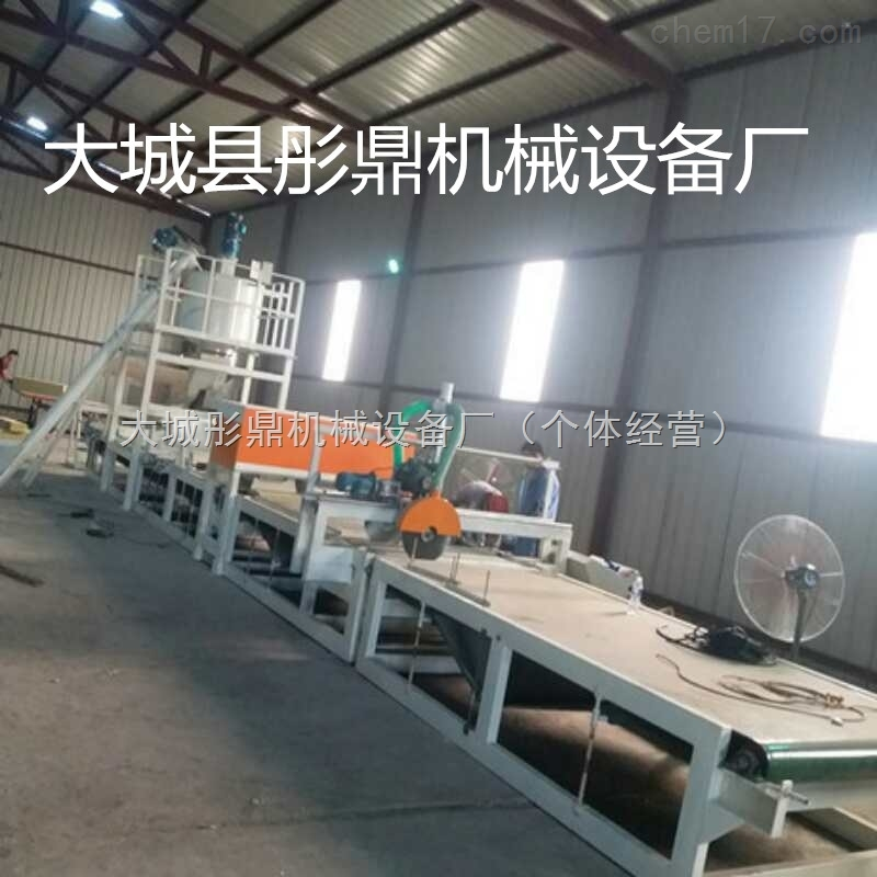 砂浆岩棉水泥复合板生产线的详细说明。