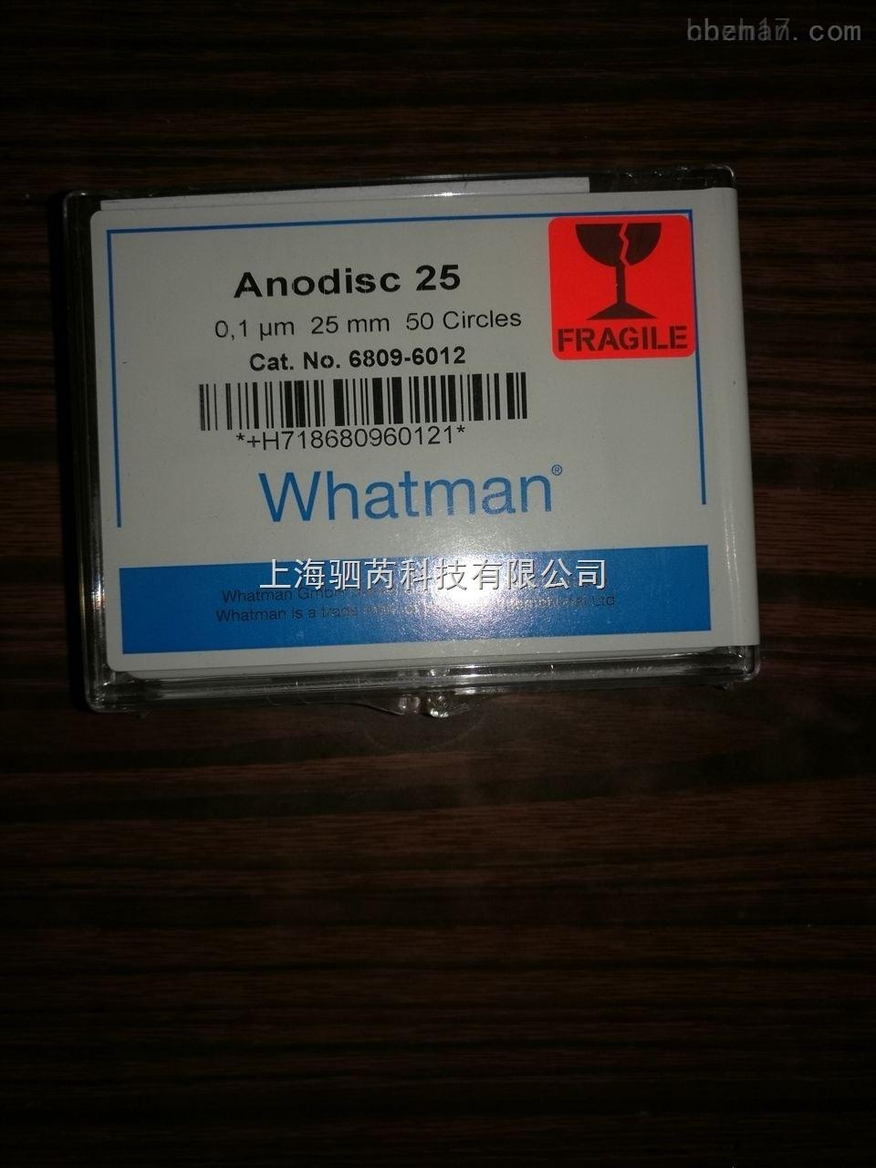 whatman100纳米氧化铝膜aao膜68096012