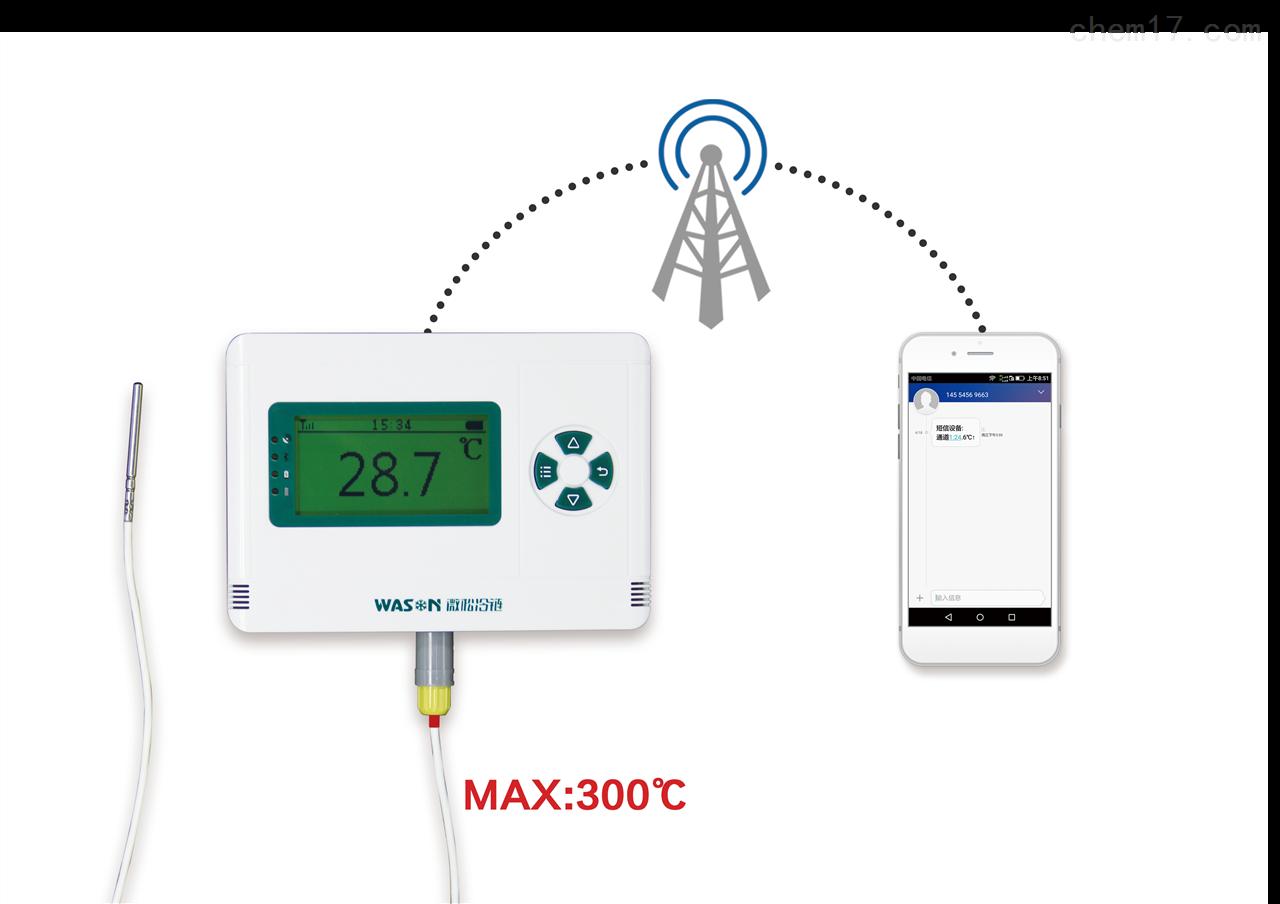 供應新款短信報警高溫溫度記錄儀