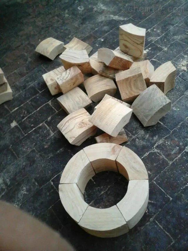 水管扇形木块/ 保冷块各种管道安装固定