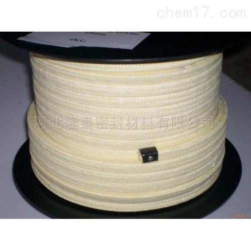 直销芳纶盘根 芳纶丝编织盘根 高强度超耐磨