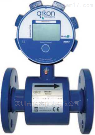 电池供电电磁流量计(功耗低,高精度)