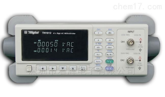TH1912双通道数字交流毫伏表