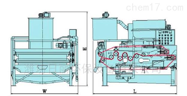 中藥製藥廠藥渣汙泥脫水裝置RL帶式壓濾機