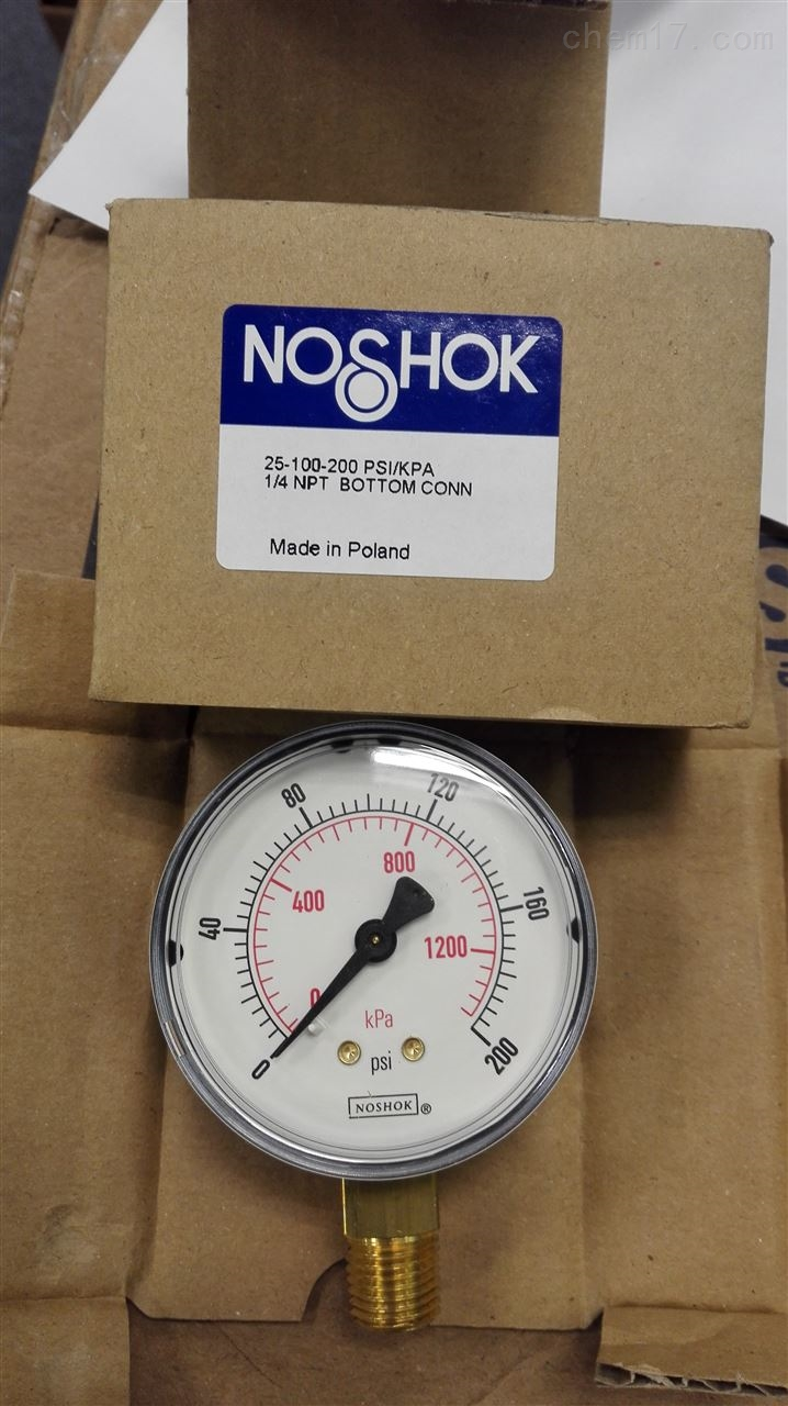 美国NOSHOK努肖克压力表实物到货批发价