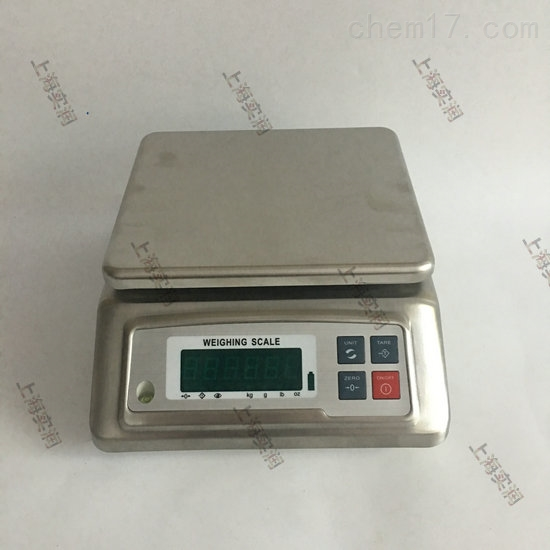 JZC-FWED防水电子秤,不锈钢3kg/6kg防水桌称