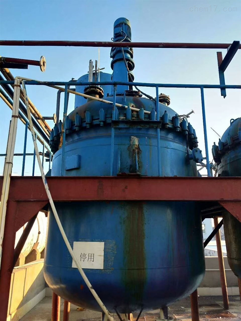 专业回收二手3000L搪瓷反应釜及化工设备
