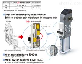 SMC夹紧气缸SMC强力夹紧气缸 CKZ3N-X2742A/X2568