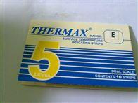 5格E型英国TMC温度纸5格E型热敏纸132-154度变色纸