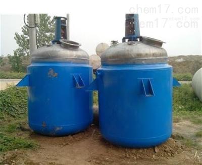 回收处理二手3立方搪瓷反应釜