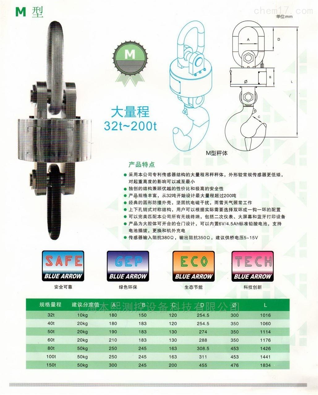 上海大吨位重工业电子吊秤生产厂家
