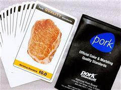 NPPC肉质比色卡/肉质评分比色板NPPC