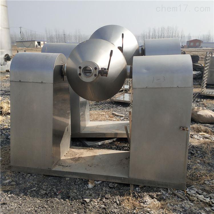 出售二手1000L不锈钢双锥回转真空干燥机