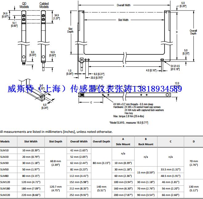邦纳slm50p6q传感器banner授权代理