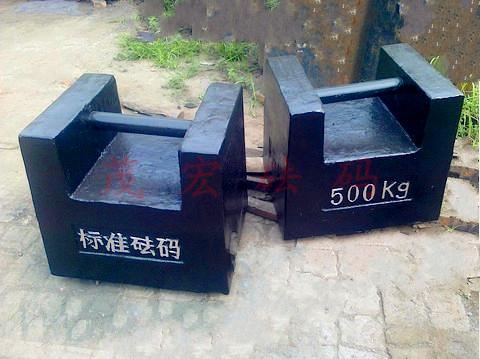 锁形500kg砝码