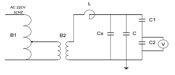 调容式工频串联谐振交流耐压试验装置原理接线图