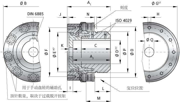 技术中心 技术参数 正文    结构: ·驱动侧:联轴器套筒带键槽