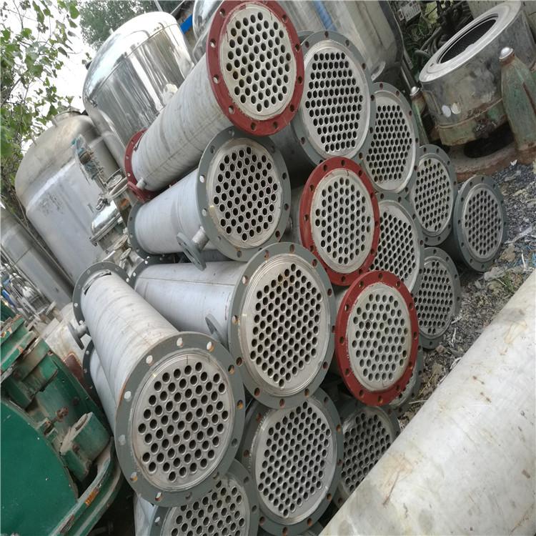 出售闲置耐高温170平方二手钛材质冷凝器