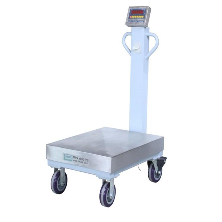 <strong>TCS-60kg带轮子方便移动不锈钢电子台秤</strong>
