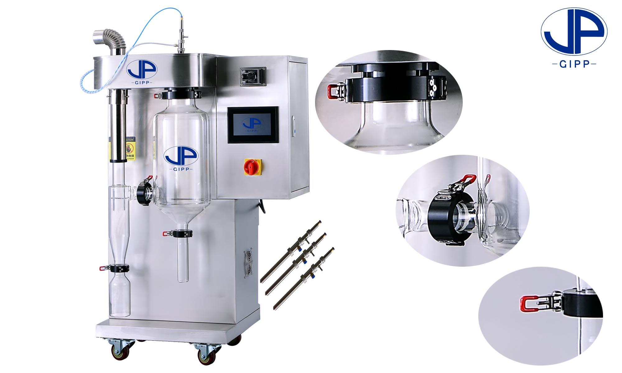 实验室小型喷雾干燥机过滤器的结构与操作原理 喷雾干燥机在工作过程中,实验员比较头疼的问题之一是风机的时常罢工不工作,特别是样品粘度较大的食品、药品。生产者为了给实验员减少工作过程中的障碍研发了过滤器,大大加强了实验效率。喷雾干燥机下面我们来认识一下这个必要工具:过滤器是用滤袋的方法过滤粉尘,简称袋滤器。袋滤器是将含尘气体通过滤袋滤除去其中粉尘粒子的一种高效分离捕集装置。在喷雾干燥系统中常作为产品回收装置,安装在引风机前,气体随后通过排风管排出。一、袋滤器由内滤式和外滤式两种。内滤式袋滤器:含尘气体由滤袋内