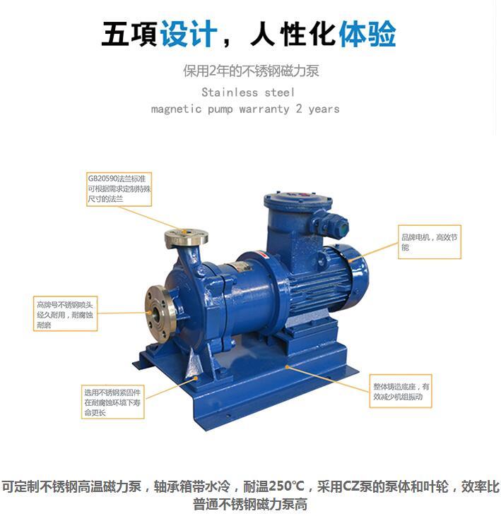 CQB型不锈钢无泄漏磁力泵